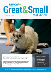 RSPCA WA Great & Small magazine March 2021 edition